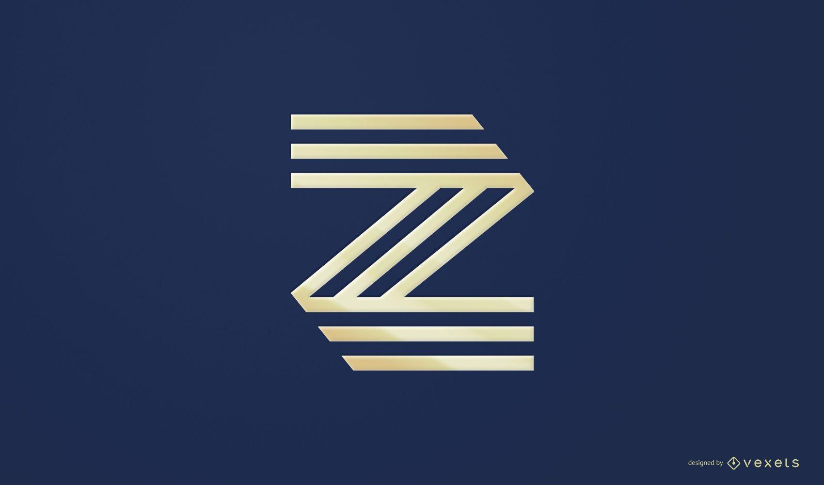 Diseño de logotipo abstracto Z