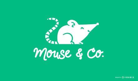 Plantilla de logotipo de mouse