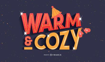 Design de letras quentes e aconchegantes