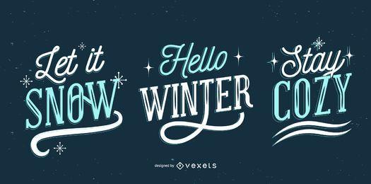 Conjunto de letras de invierno