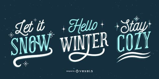 Winter lettering set