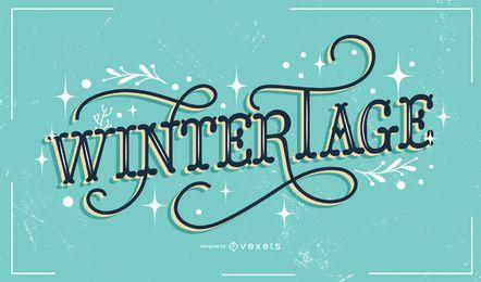 Wintertage deutsche Beschriftung