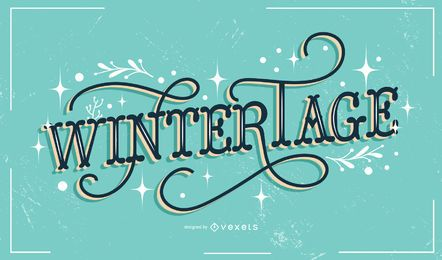 Wintertage german lettering