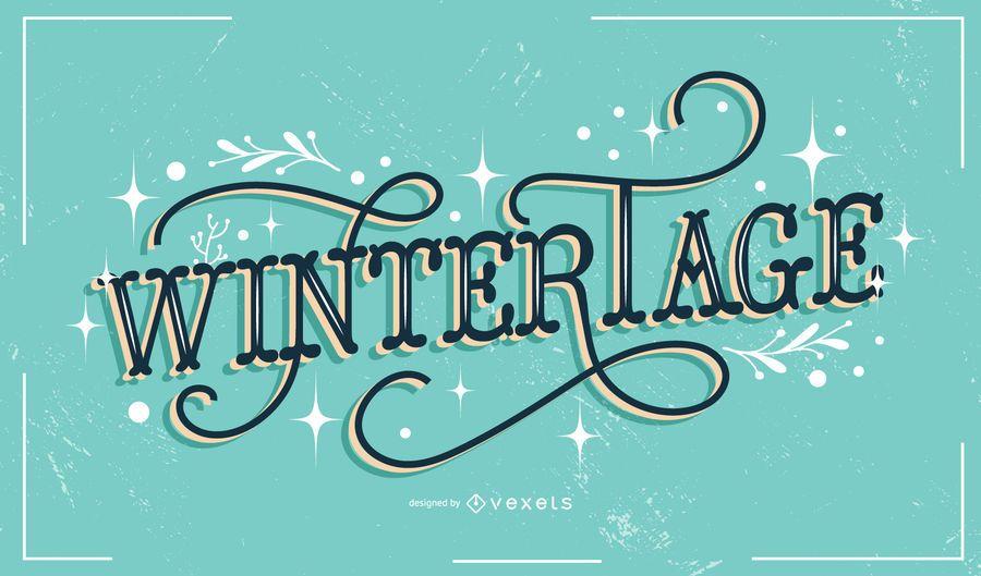 Wintertage german lettering