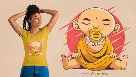 Design de t-shirt de bebê buddha