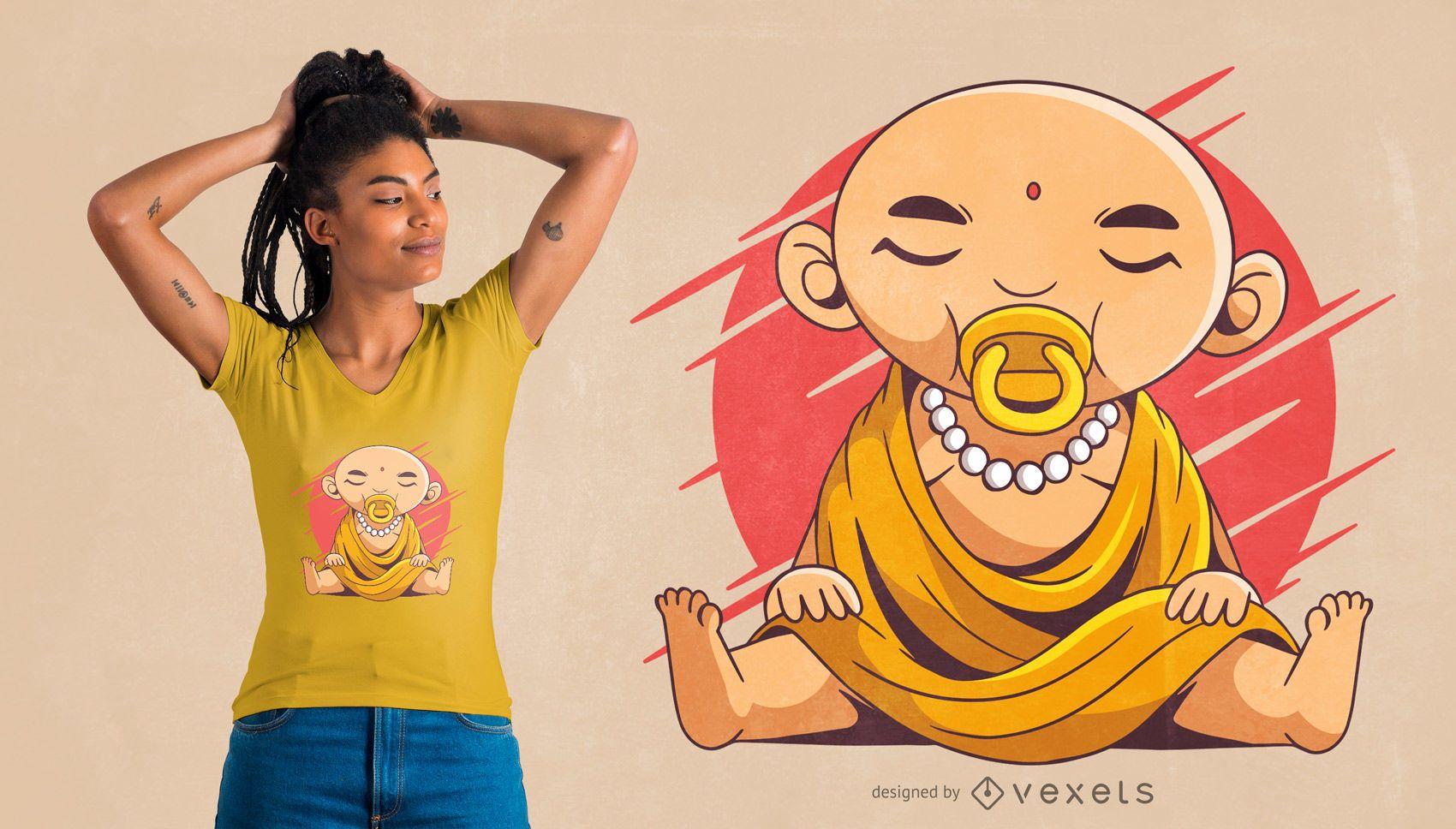 Dise?o de camiseta baby buddha