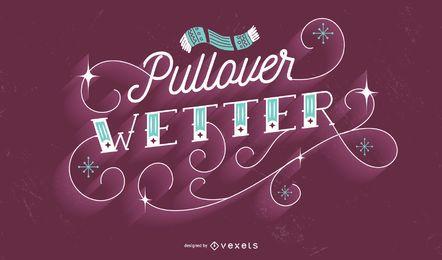 Design de citação de letras de inverno alemão