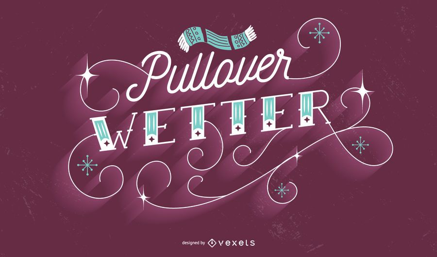 German Winter Lettering Quote Design