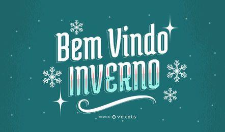 Design de citação de inverno português