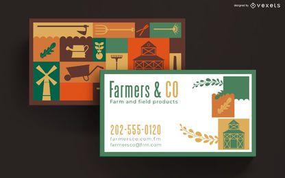 Design de cartão de visita de fazenda