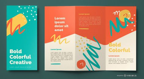 Colorful abstract brochure template