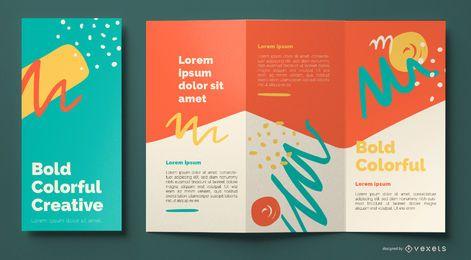 Modelo de folheto abstrato colorido