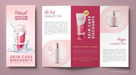 Plantilla de folleto de cosméticos