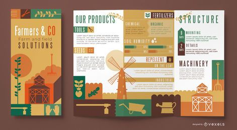 Plantilla de folleto de agricultores