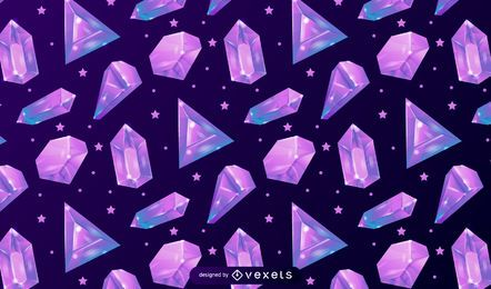 Crystal pattern design