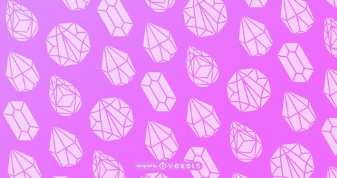 Crystal silhouette pattern design