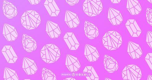 Desenho de padrão de silhueta de cristal