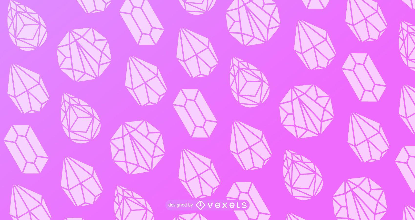 Diseño de patrón de silueta de cristal