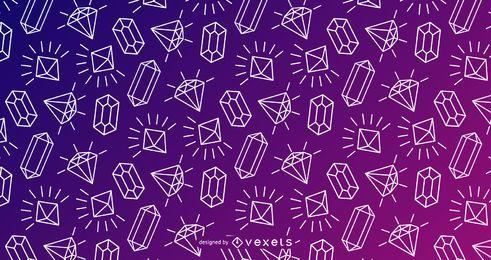Design de traçado de padrão de cristal