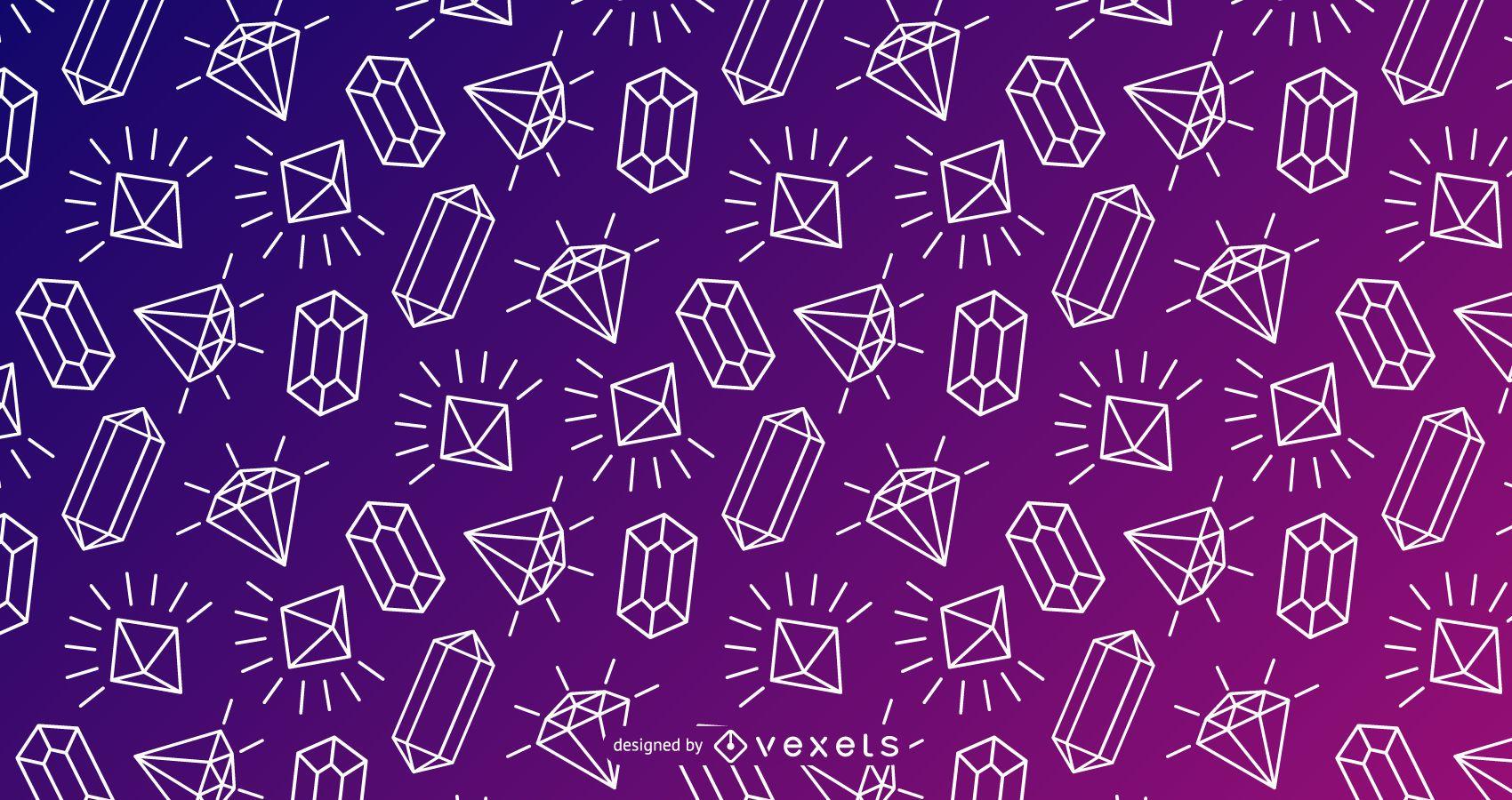 Diseño de trazo de patrón de cristal