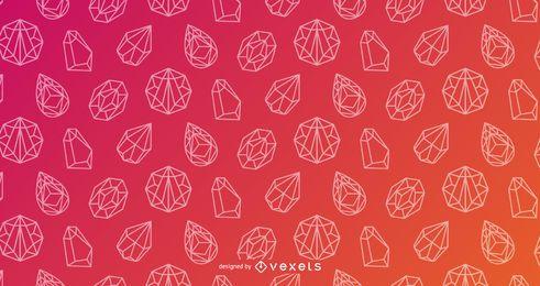 Design gradiente de padrão de cristal