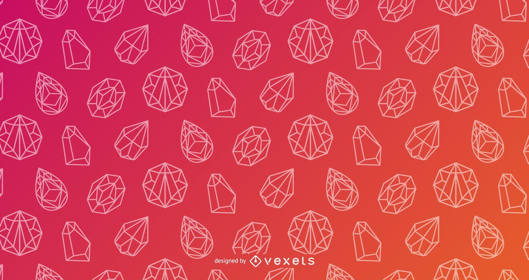 Diseño de gradiente de patrón de cristal