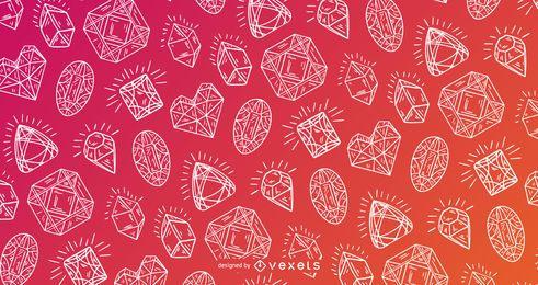 Design detalhado de padrão de cristal