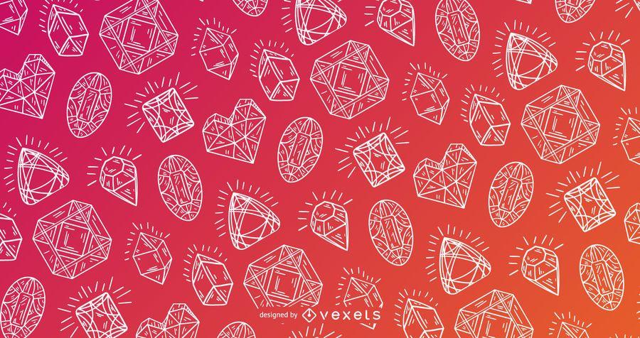 Ausführliches Design des Kristallmusters