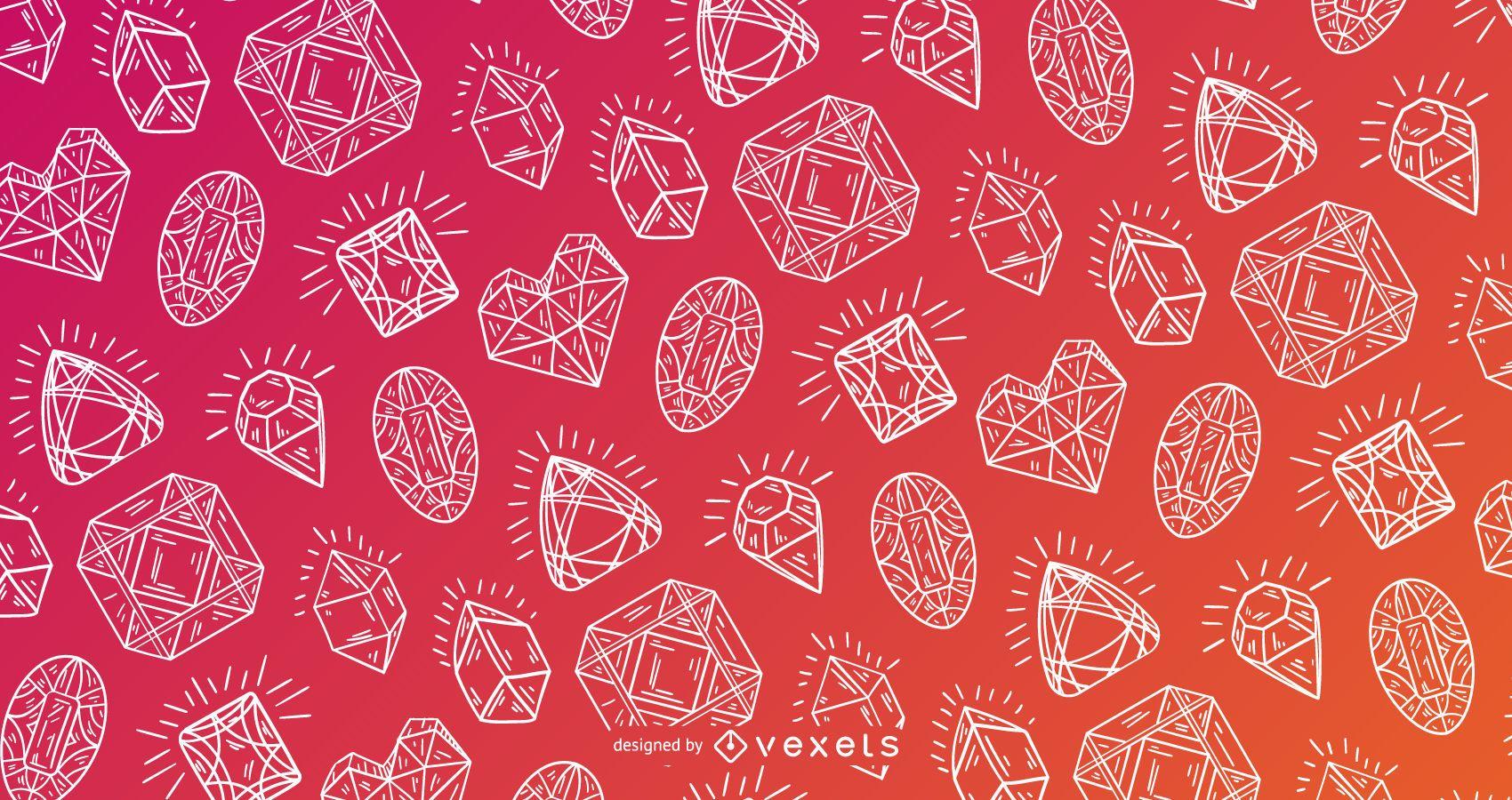 Crystal pattern detailed design