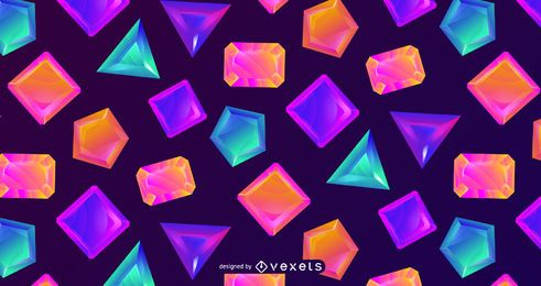Colorful crystal pattern design