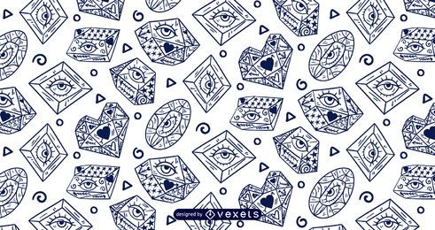 Crystal eyes pattern design