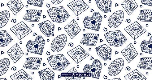 Crystal eyes pattern design