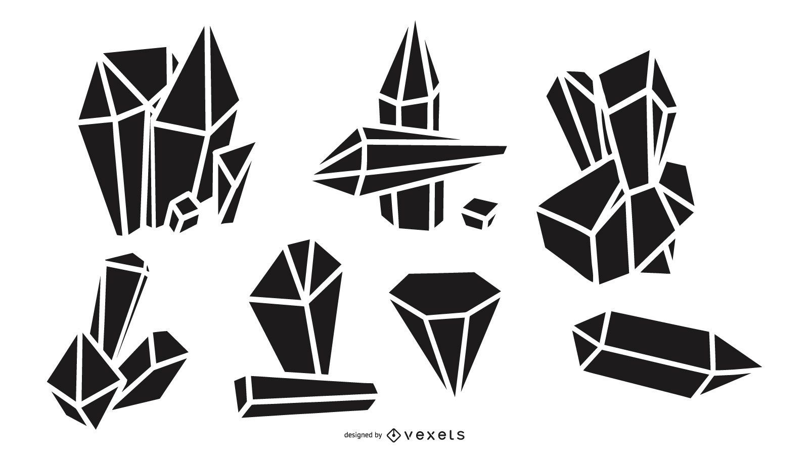 Crystal silhouettes set