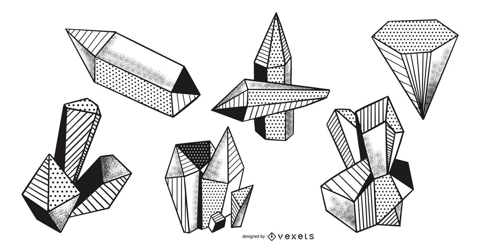 Paquete de vectores de puntos de cristales