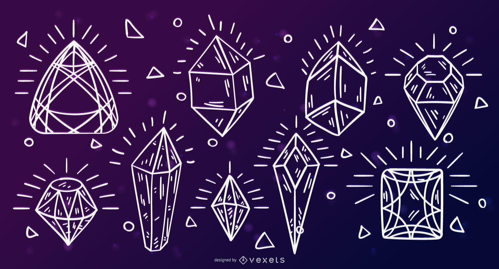 Crystal gems stroke set