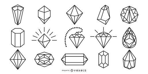 Pacote de traços de diamantes