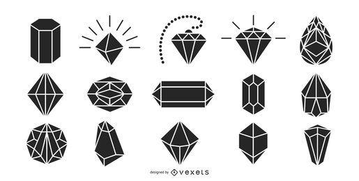 Paquete de silueta de diamantes