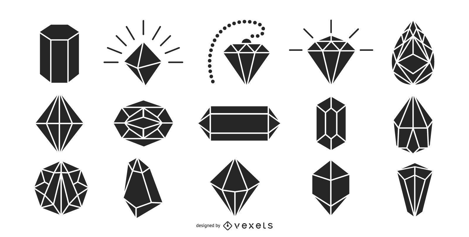 Diamonds silhouette pack