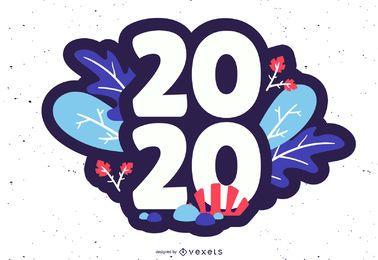 2020 floral badge