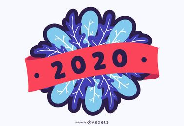 2020 new year badge