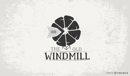 Tamplate con logo de molino de viento