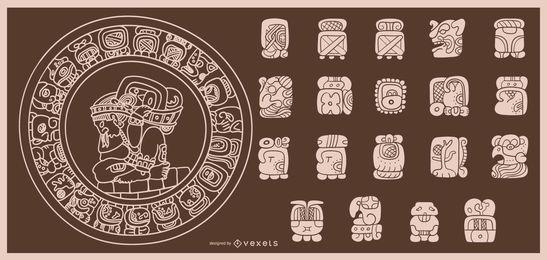 Diseño de trazo de calendario maya