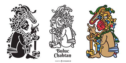 Conjunto de dios maya Buluc Chabtan