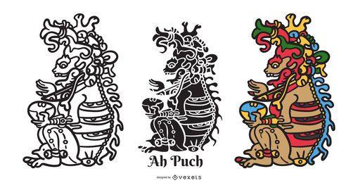 Diseño de ilustración de Maya God Ah Puch