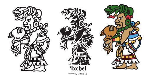 Maya God Ixchel Illustration Design