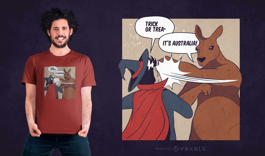 Funny Australia Halloween T-shirt Design