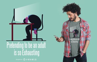 Diseño de camiseta de cita divertida para adultos
