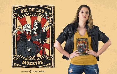 Día de los Muertos Casal Design de t-shirt