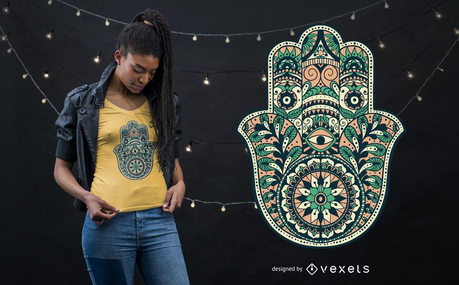 Ornamental Hamsa Hand T-shirt Design