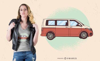 Diseño de camiseta Van roja